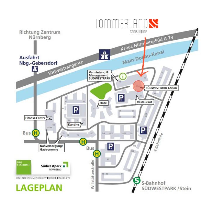 Lageplan Südwestpark Nürnberg